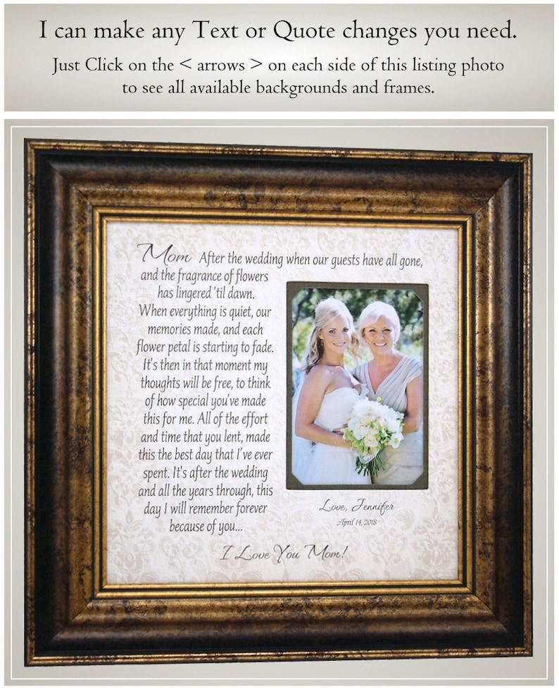 Mother of the Bride Wedding Gifts from Daughter Mom Wedding image 0