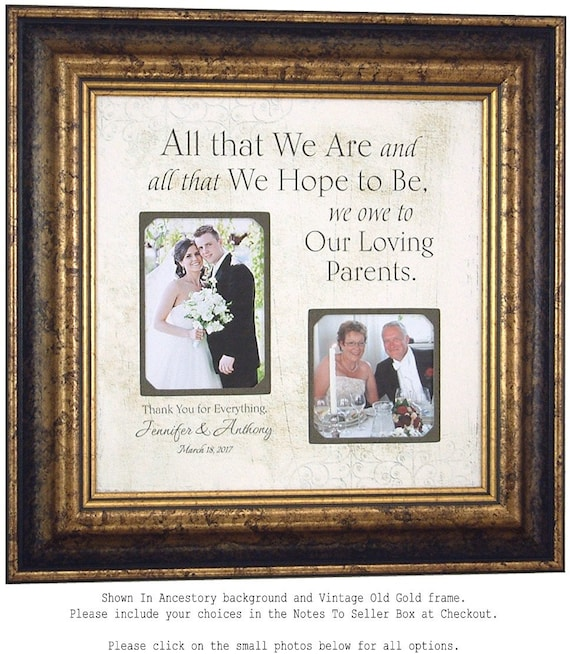 Father Of The Groom Gift Parent Wedding Frame Mother Of The Etsy