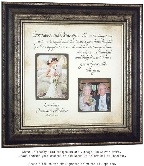 Wedding Gift for Grandparents Personalized Wedding Frame | Etsy