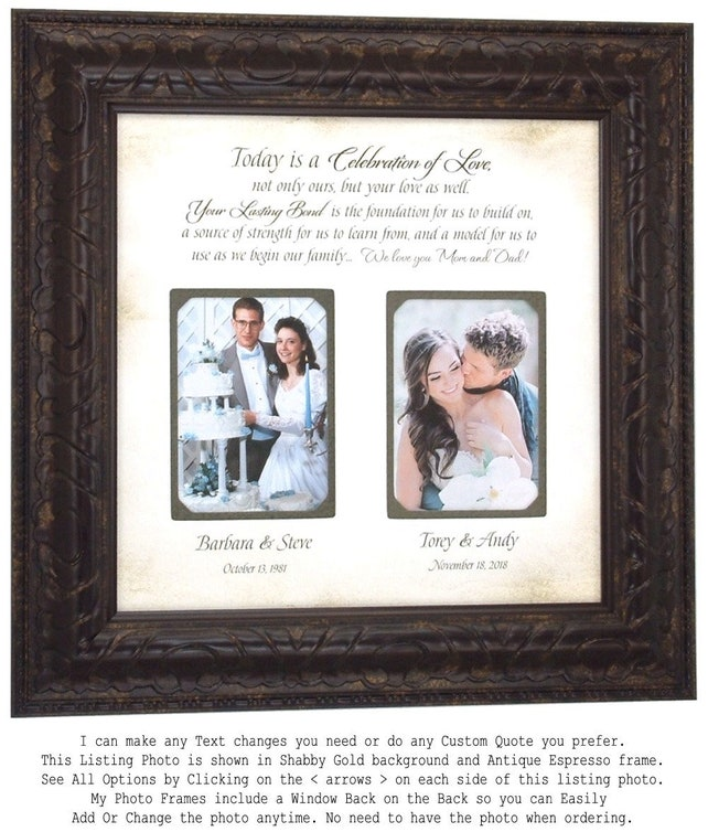 Wedding Gift For Dad Mother Father Wedding Gift Parents Wedding