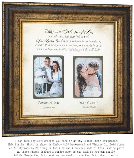 Mother of the Bride Gift Wedding Gift parents double frame | Etsy