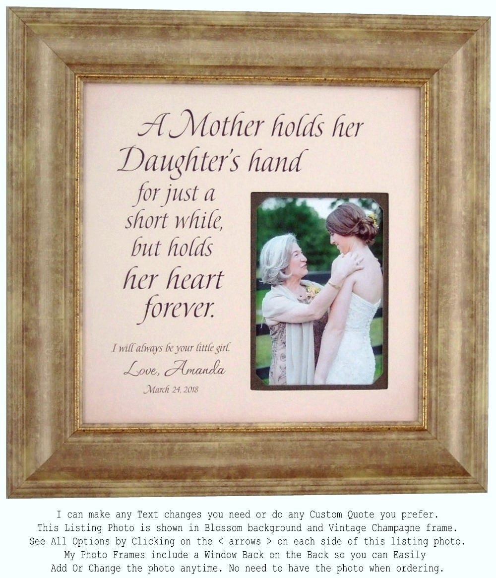 Personalized Wedding Gift for Mom from Daughter Mother of the