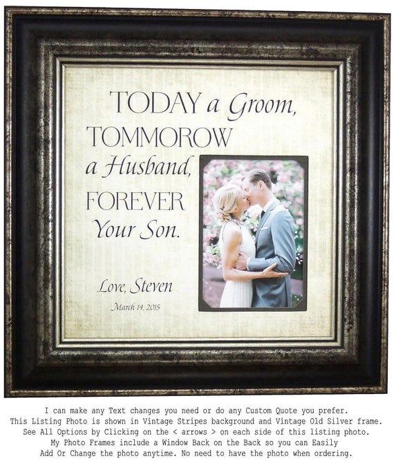 Wedding Frame for Groom Parents Wedding Gift for mother of