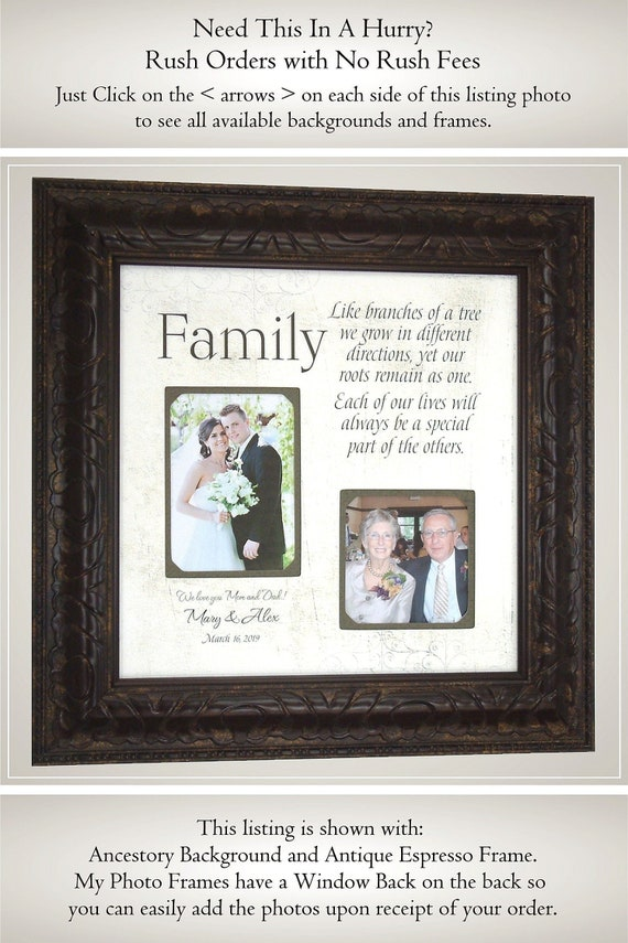 Personalized Wedding Frame Parents Of The Bride Gift Parents Etsy