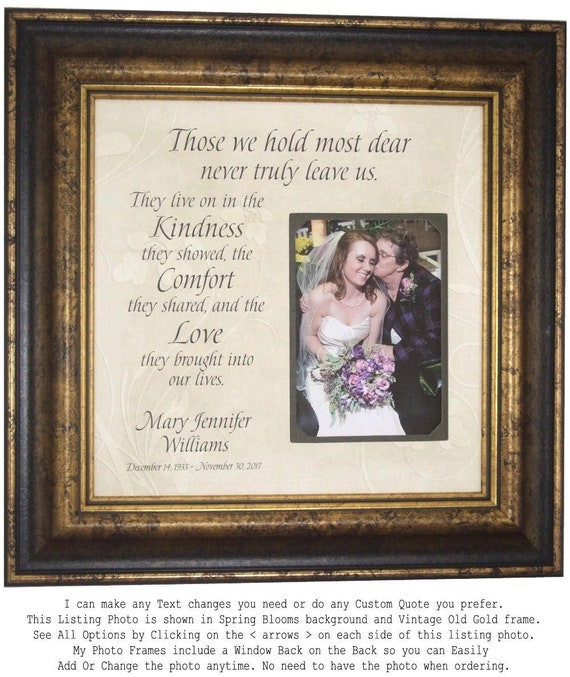 In Memory Of Photo Frame Wedding Memorial Gift In Memory | Etsy