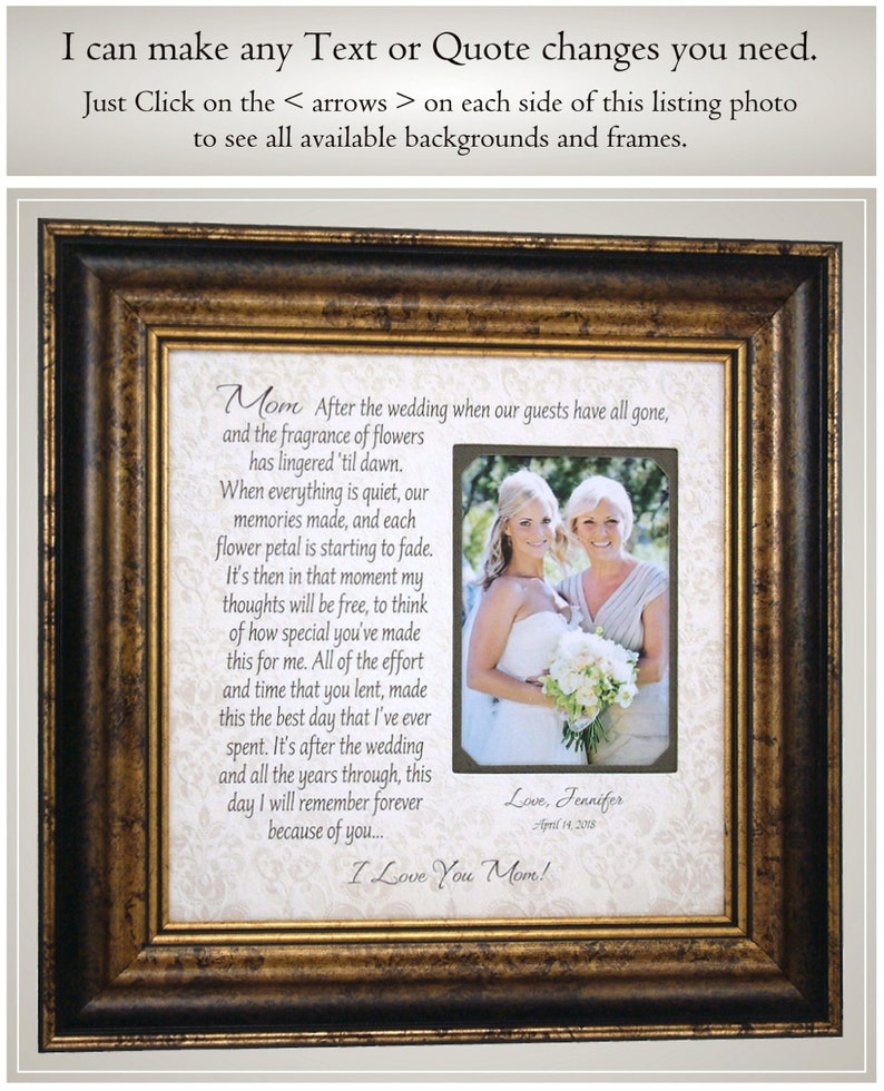 wedding arrow cake topper wedding guestbook Mother of the Bride Gift for Parents from Daughter wedding guest book Photo Frame Originals