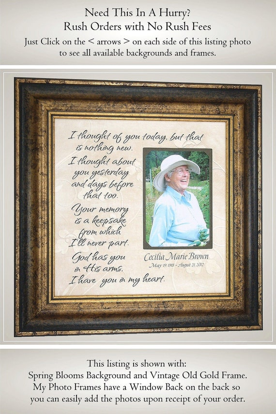 Wedding Memorial Picture Frame Mother Memorial Sign Mother Etsy