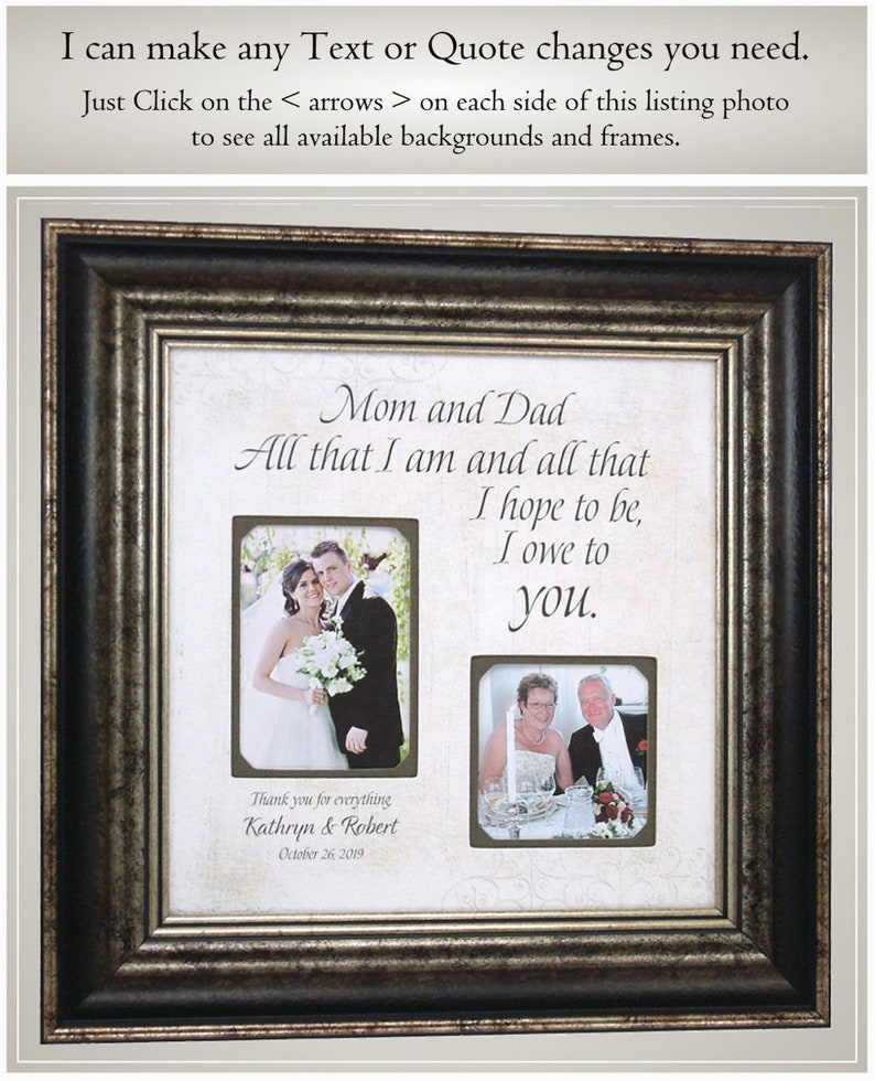 Father of the Groom Dad Persononalized Wedding Gift Bride Frame