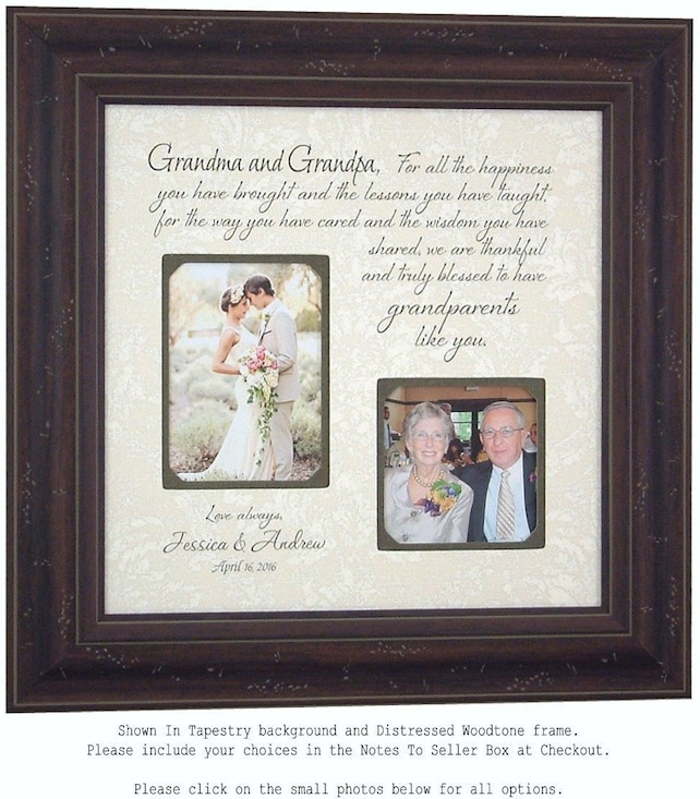 Grandparents Gift Wedding Thank You Gift Nana Papa Grandma