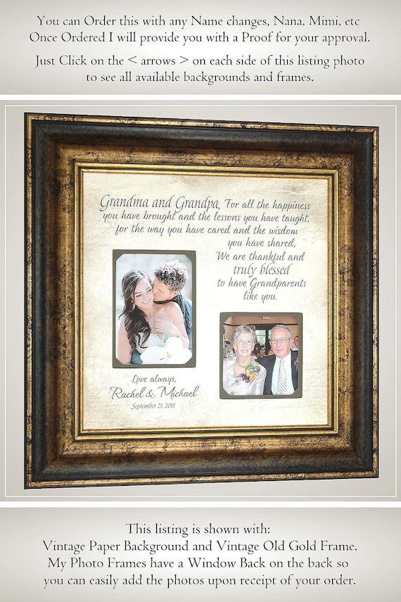 Grandparents Gift Wedding Thank You Gift Nana Papa Etsy
