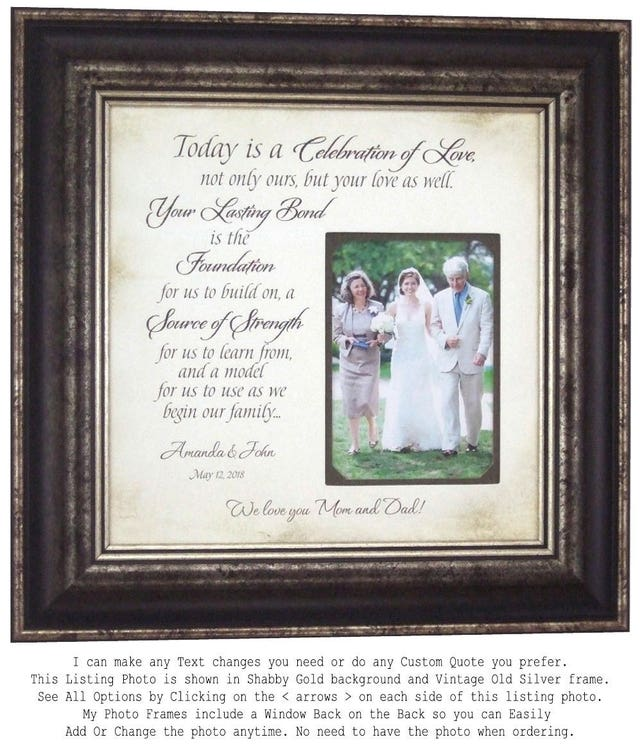 Personalized Wedding Gift Thank You Gift For Parents Gift For Mom