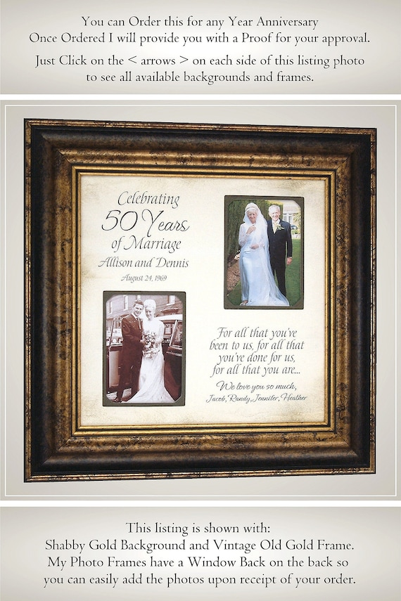 50 Years Of Marriage Anniversary Gift 50th Anniversary Gift Etsy