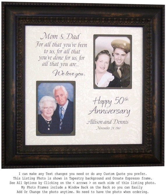 Anniversary Photo Frame Parents Anniversary Gift 25th | Etsy