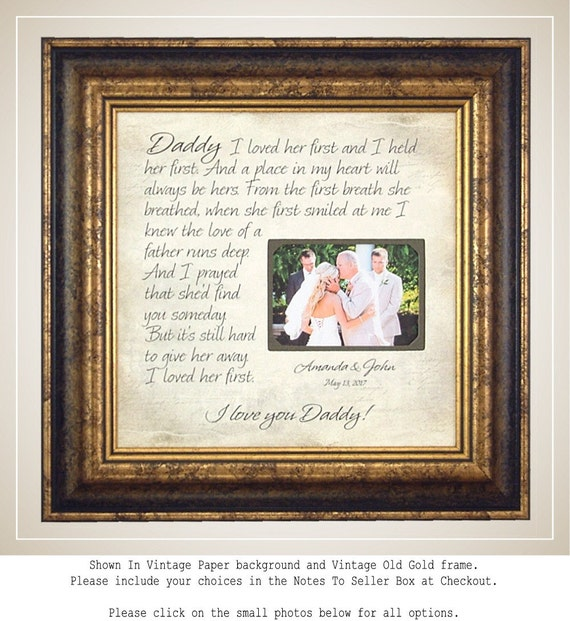 Father of the Bride Gift Lyrics Wedding Song First Dance | Etsy