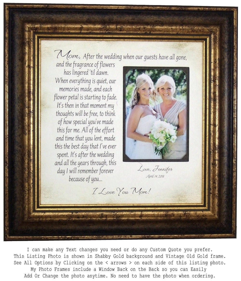 Mother of the Bride Photo Frame, Wedding Gift for Mother of the ...