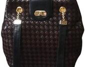 BOTTEGA VENETA Lambskin Intrecciato Woven Handbag