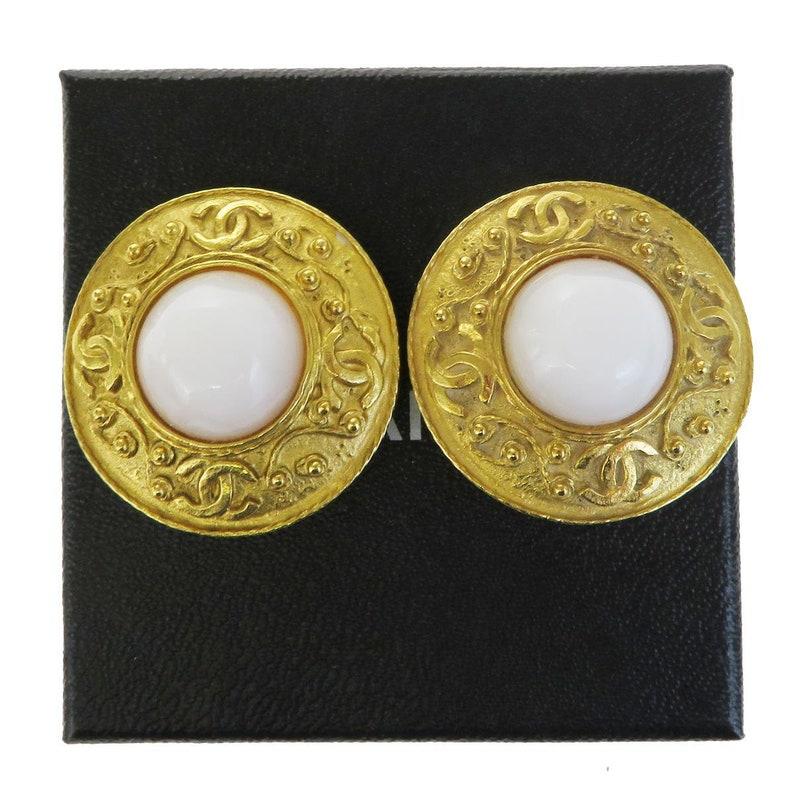 6a02949a CHANEL Gripoix 18kt Gold Plated Earrings Karl Lagerfeld Era