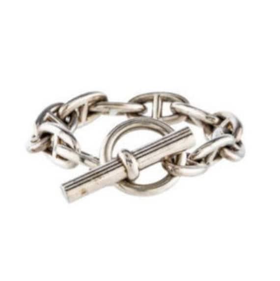 Ancre Chaine HERMES Bracelet GM 935 pouces argent 925   Etsy a10a43caed1