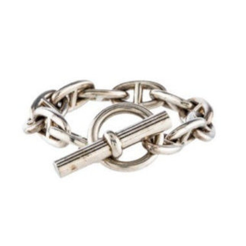 aabd7dc00b8 HERMES Chaine d Ancre Bracelet GM 9.35 Inches 925