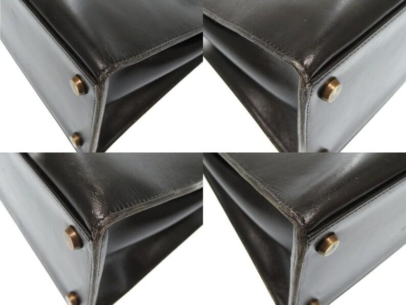 3452955bcf90f HERMES Kelly Bag Box Calf 28cms Black Vintage With Box nd Dust