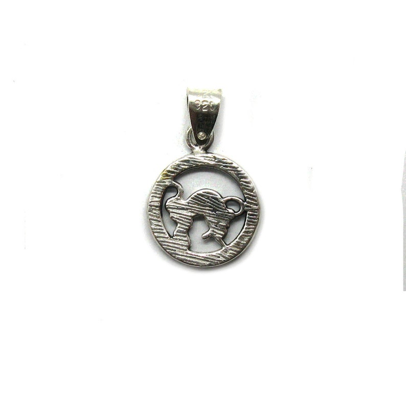 PE001344 Sterling silver pendant charm zodiac sign taurus solid 925
