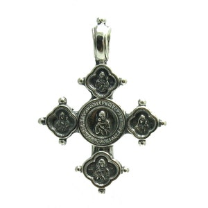 PE000225 Sterling silver pendant  925 cross orthodox quality solid