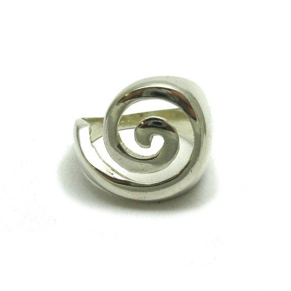 R000448 LONG STERLING SILVER RING SOLID 925