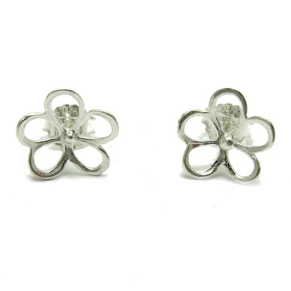 New Sterling Silver Earrings Flower Hallmarked Solid 925 New Handmade Empress
