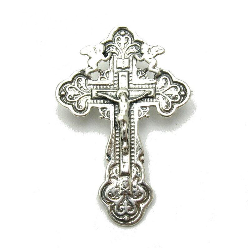 A000086 STERLING SILVER Brooch 925 Cross