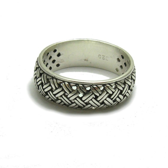 Sterling silver ring 9mm band solid 925 R000783 Empress