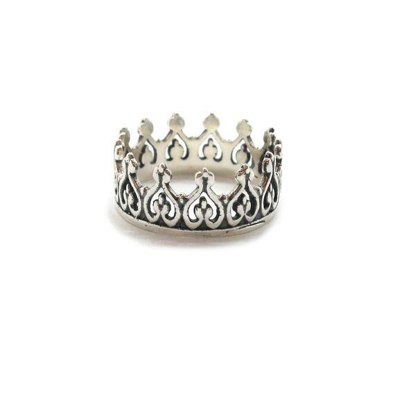 Crown Ring Sterling Silver Tiara 925 Hallmarked