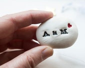 Personalised Wedding Gift Pebble Message Stone Unique Wedding Gift or Engagement Gift