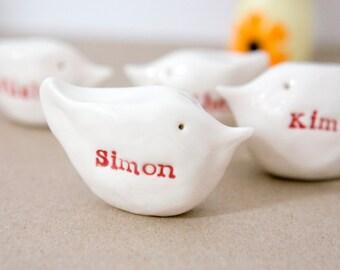 Personalised gift bird family SIX birds