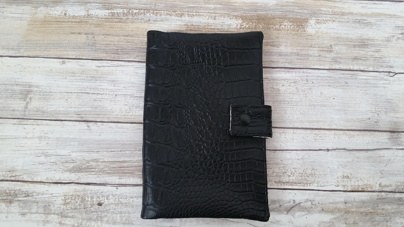 Black foe leather Fun pack. Script lining. Play pack case. image 0