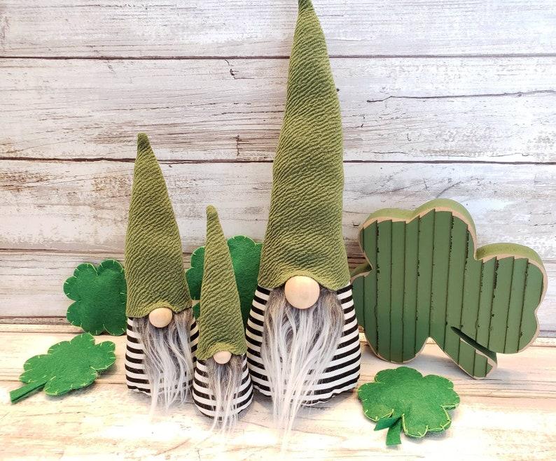 St. Patrick's  day Gnomes. Faux fur. home decor. Modern image 0