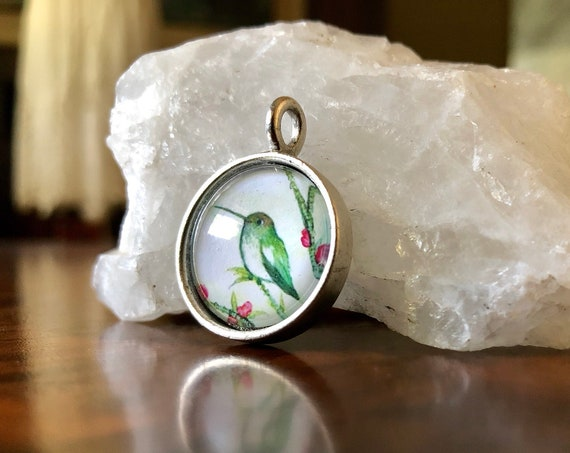 Hummingbird hummingbird Pendant hummingbird jewelry gift idea for her hummingbird gift for her naturalist gift hummingbird necklace 
