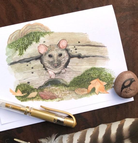 Wood Rat Greeting Card