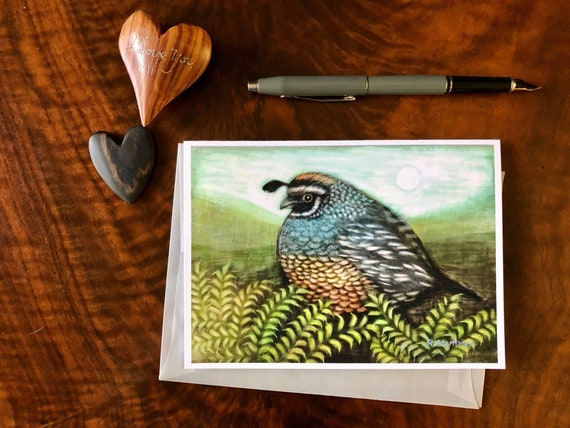 Quail Greeting Card