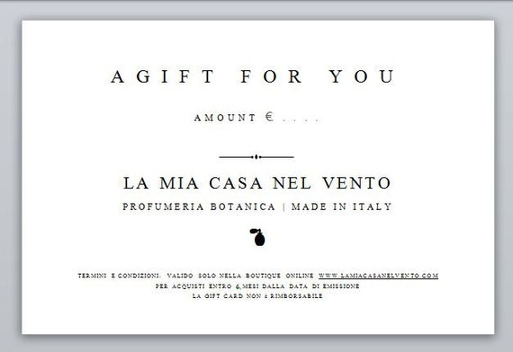 Gift Card, gift certificate, PDF, gift voucher