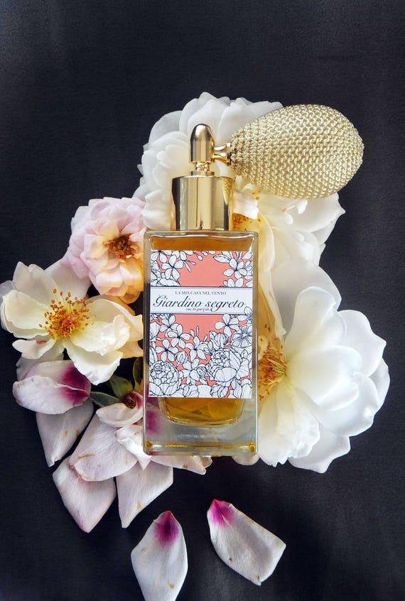 Giardino Segreto-Botanical Perfume with Ivory Bulb sprayer and golden fitting