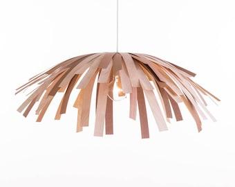 Tina / Wood Veneer Lamp / Mix of White and Red Birch / Short Hair