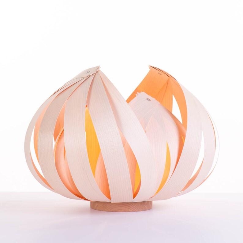 Sol  Large  Wood veneer lamp Maple