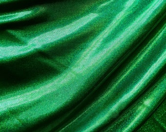 9ed0a03ebea5de 4-Way Stretch Mystique Metallic Spandex Fabric - Kelly