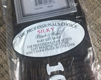 Off Black - Dark Auburn Mix 1B/33 Black n Gold 100% High Quality Synthetic Silky Kanekalon Hair - For Dreads, Braids, Extensions, KK hair