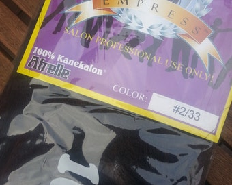 Darkest Brown / Dark Auburn Mix (2/33) - Empress EXTRA LONG Kanekalon Jumbo Braid - 100% High Quality Kanekalon w. Afrelle - Dreads, Braids
