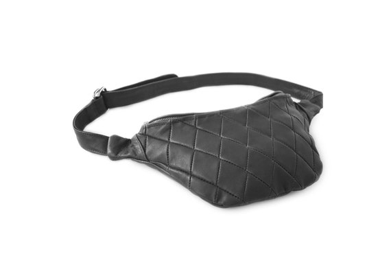 ee1298ea94fc Quilted Leather belt Bag Designer leather fanny pack quilted | Etsy