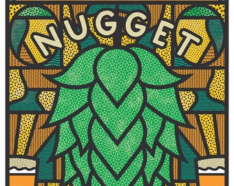 Troegs Independent Brewing Company 2017 Nugget Nectar Beer Poster