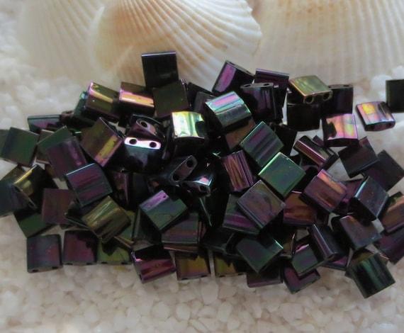 TL1898 10 Grams Miyuki Tila Beads 5x5x1.9mm-Light Purple Opaque AB