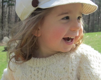 Corduroy Newsboy Cap Upcycled Baby Toddler Hat / Photo Prop Boy / Girl Easter Bonnet
