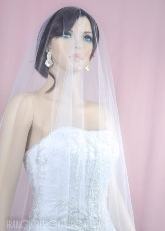 Jodi Veil Wedding Veil Bridal Veil Double Layer Bridal Drop Veil